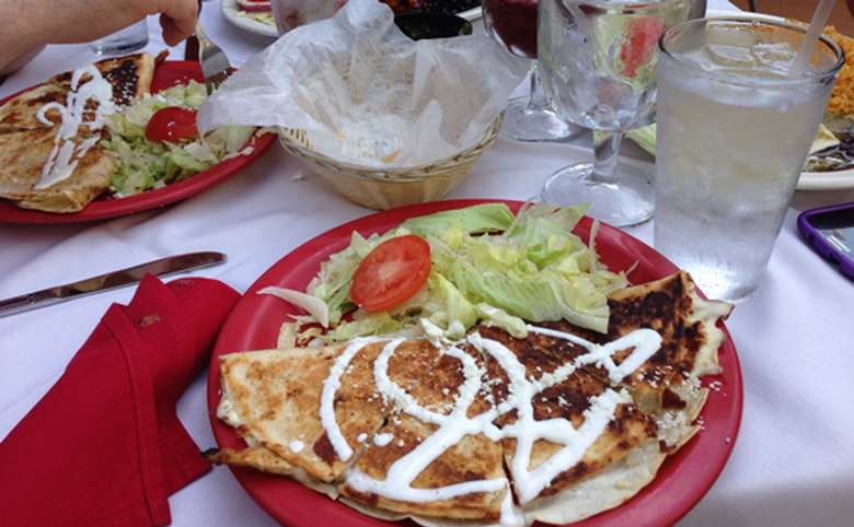 Image of quesadillas and salads