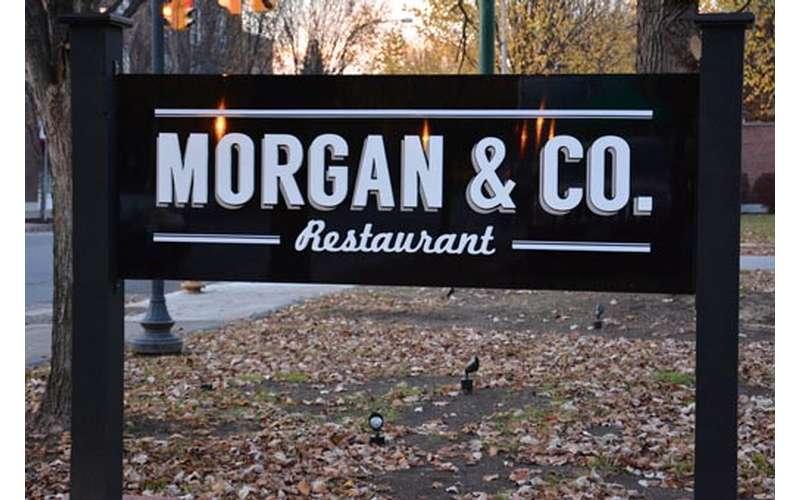 Morgan & Co. sign outside