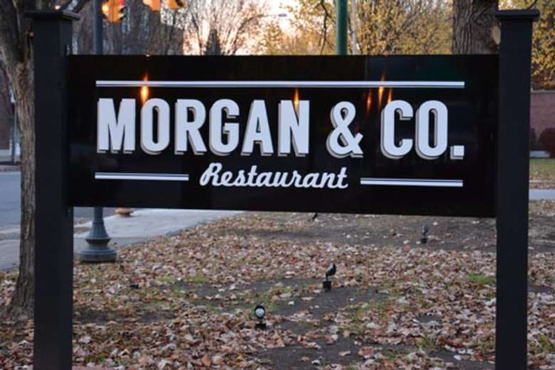 Morgan & Co. sign outside