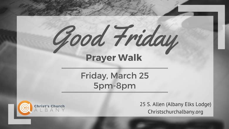 advertisement for a good friday prayer walk
