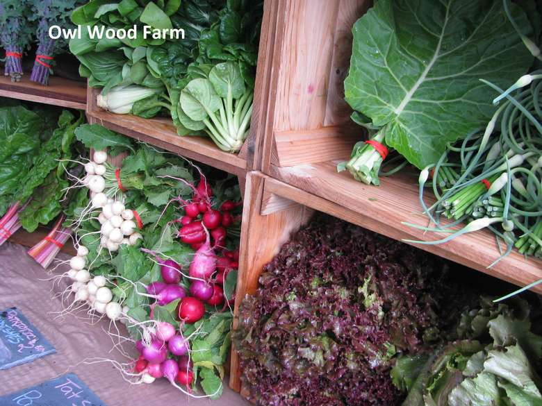 wooden boxes or crates holding produce