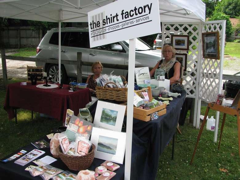 The Shirt Factory vendor booth