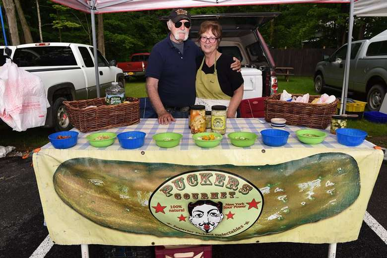 a pickle vendor booth