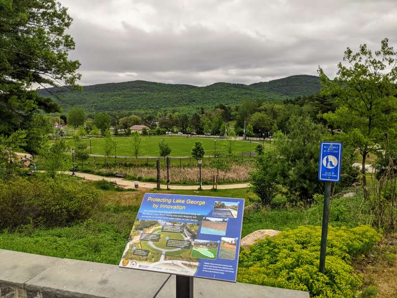 park and signs