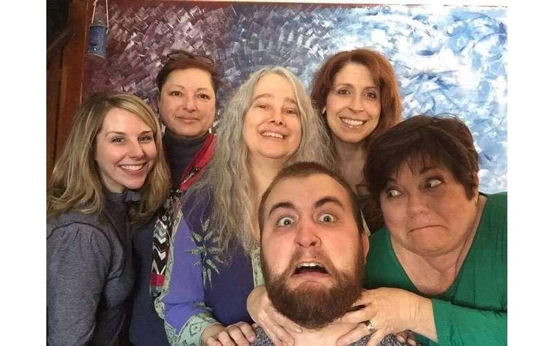 goofy group posing