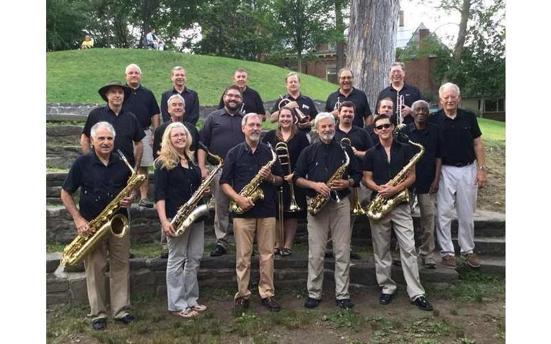 jazz group posing outdoors