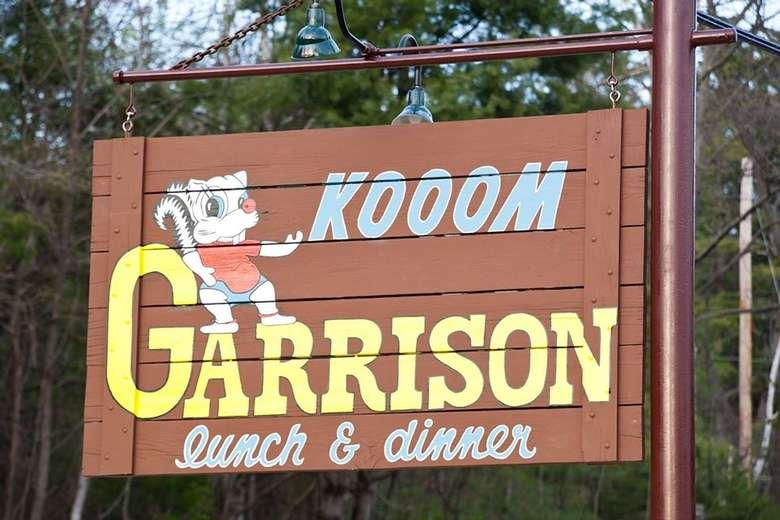 sign for the garrison restaurant