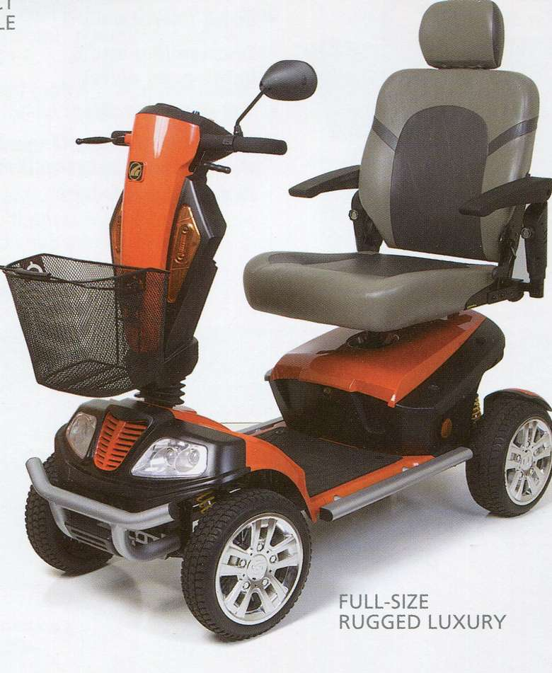 4 Wheel mid size scooter