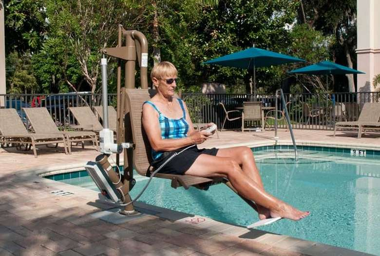 Pool Lifts we sell and install at the best prices for the best lift by Harmar.