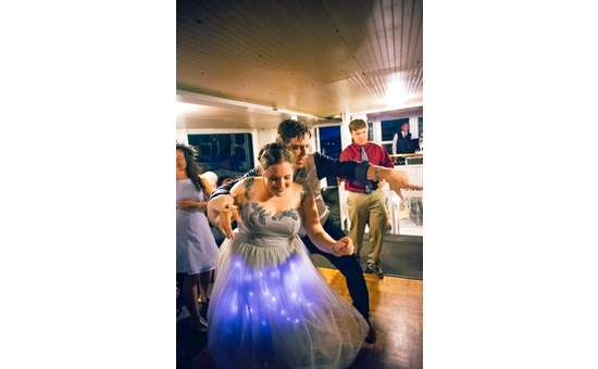 Wedding celebration aboard the Mohican