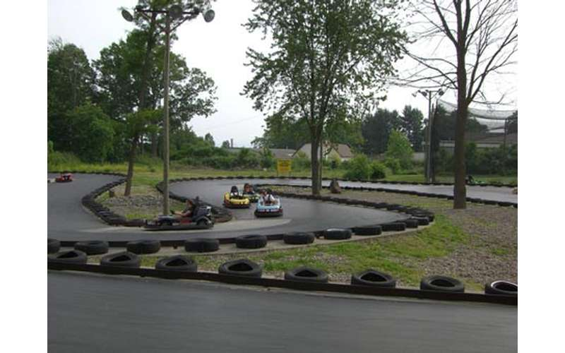 view of twists and turns on the go-kart track