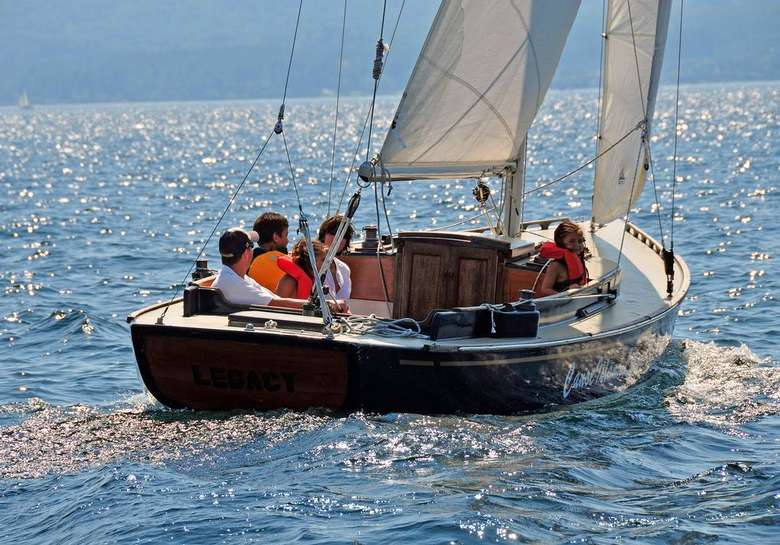 people on a sailboat