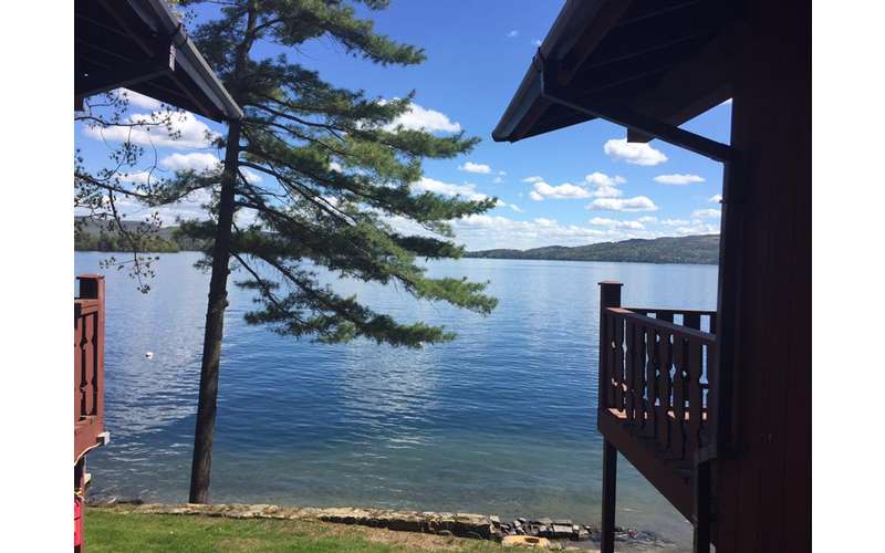 view of the water from the lodge