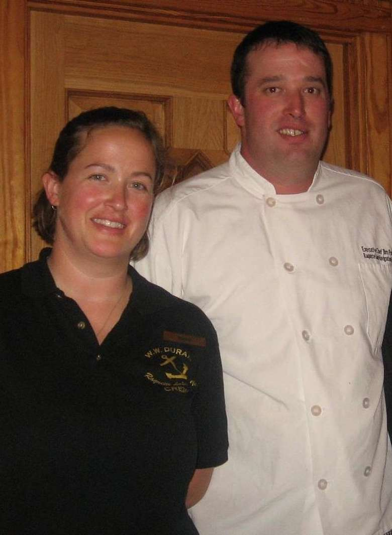 chef and a server