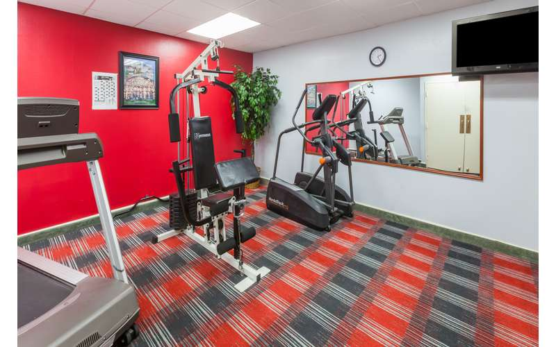 Keep up your exercise routine in the fitness center.