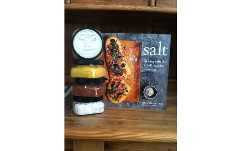 Specialty salts and a Salt book.