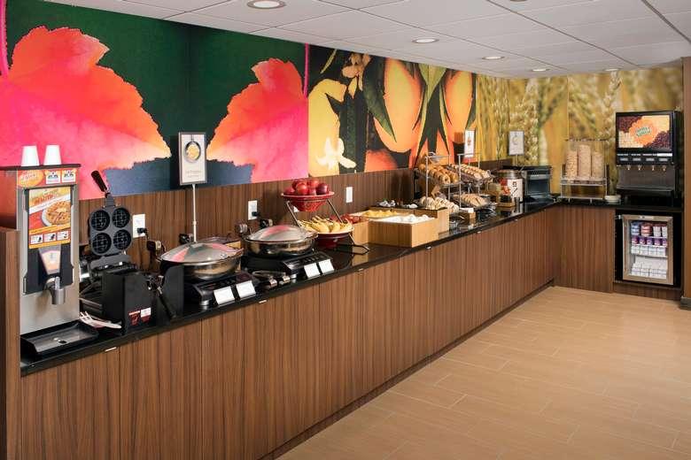 Breakfast area in the hotel