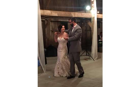 Our happy couple, Shawn and Sam, dancing on their wedding day