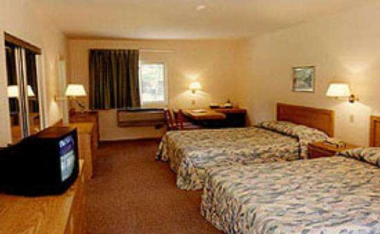 room with two beds, TV