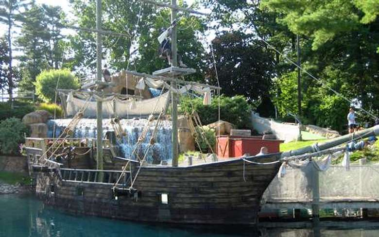A large pirate ship at Pirate's Cove