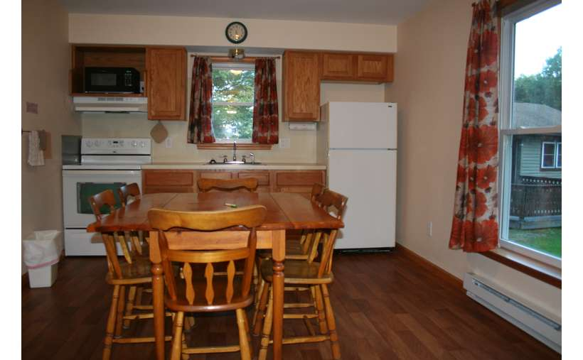 quaint kitchen, floral curtains