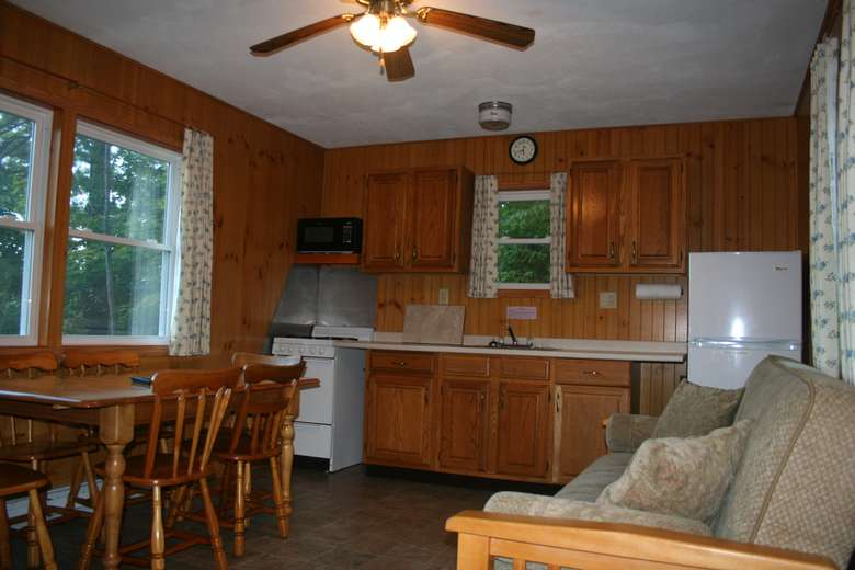 kitchen with couch in it
