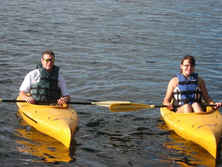 use of free kayaks