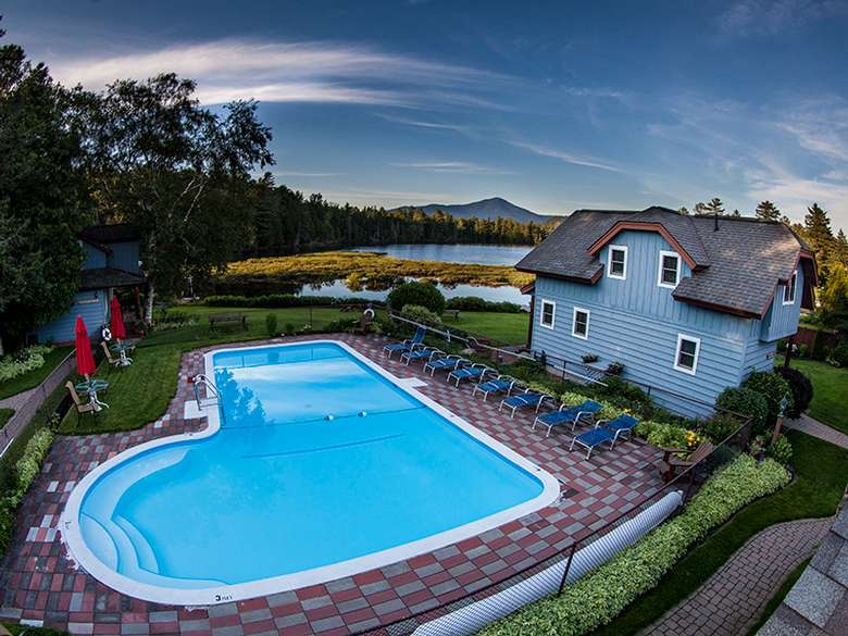 Our outdoor pool with lovely views