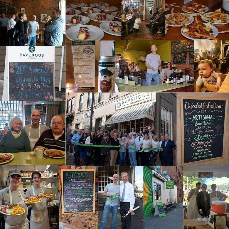 20th anniversary restaurant photo collage