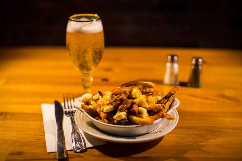 Authentic Poutine on a plate