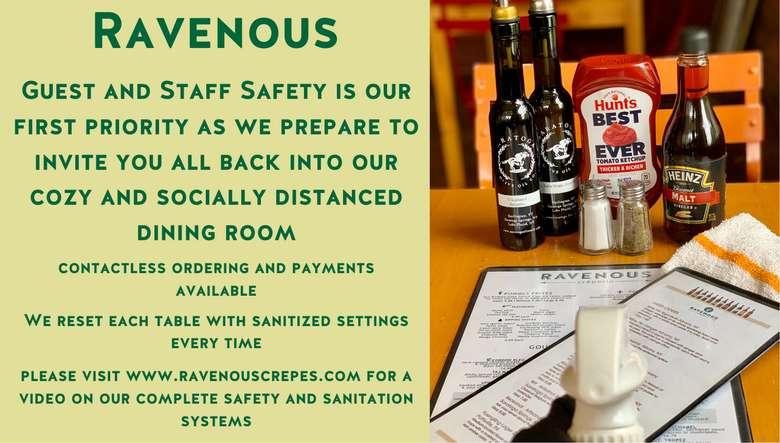 Serving you safely!