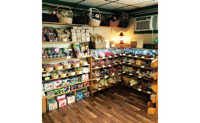 inside candy store