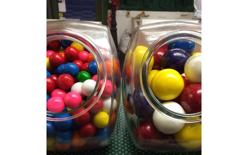 jars of candy balls
