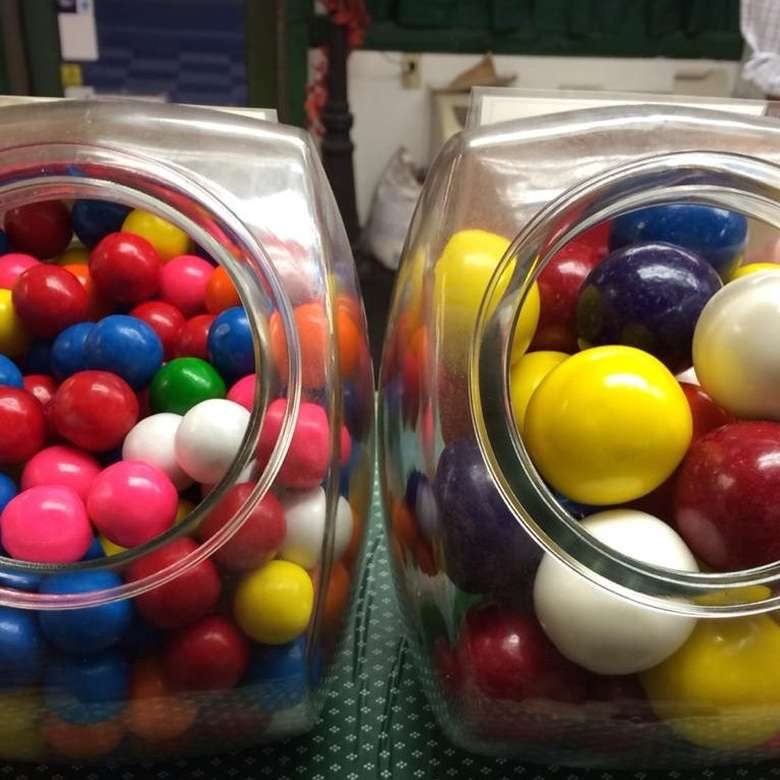 jars of candy balls