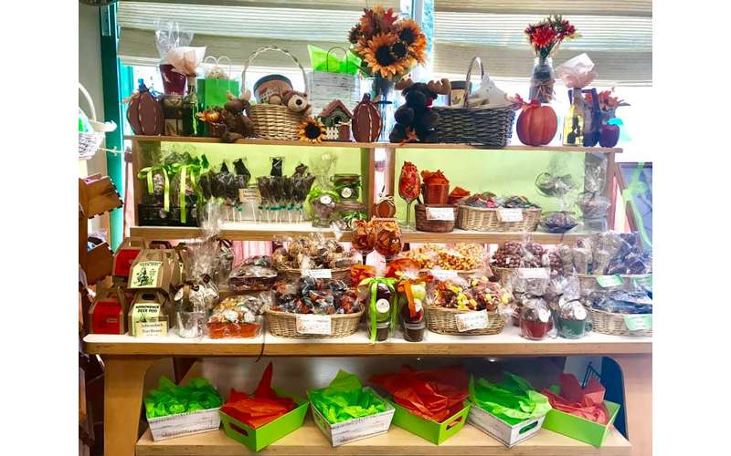 display in candy store