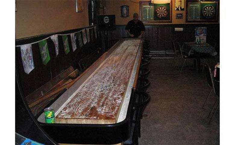 shuffleboard table at the parting glass