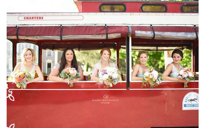 Good Golly! Now that's a Wedding Trolly!