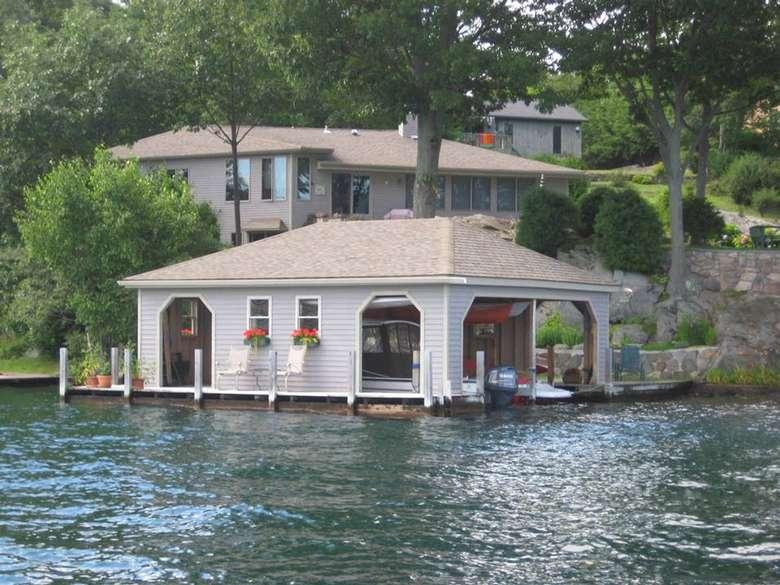 Beautiful Lakeside Property Featuring a Boathouse