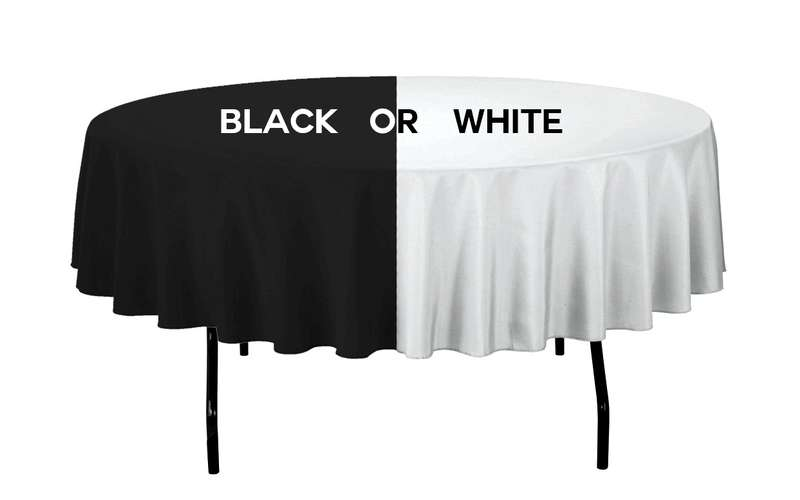 Table Options include 60 inch Round Linens and Chair Covers