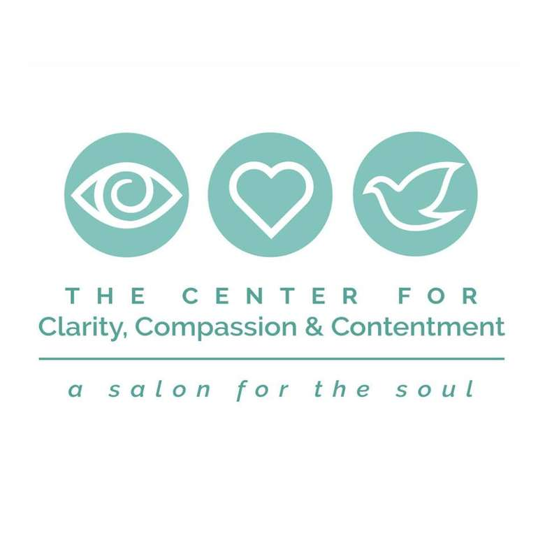 the logo for the center for clarity, compassion, and contentment