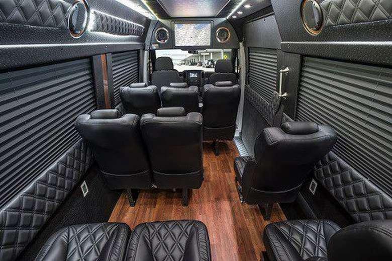 interior of an upscale van