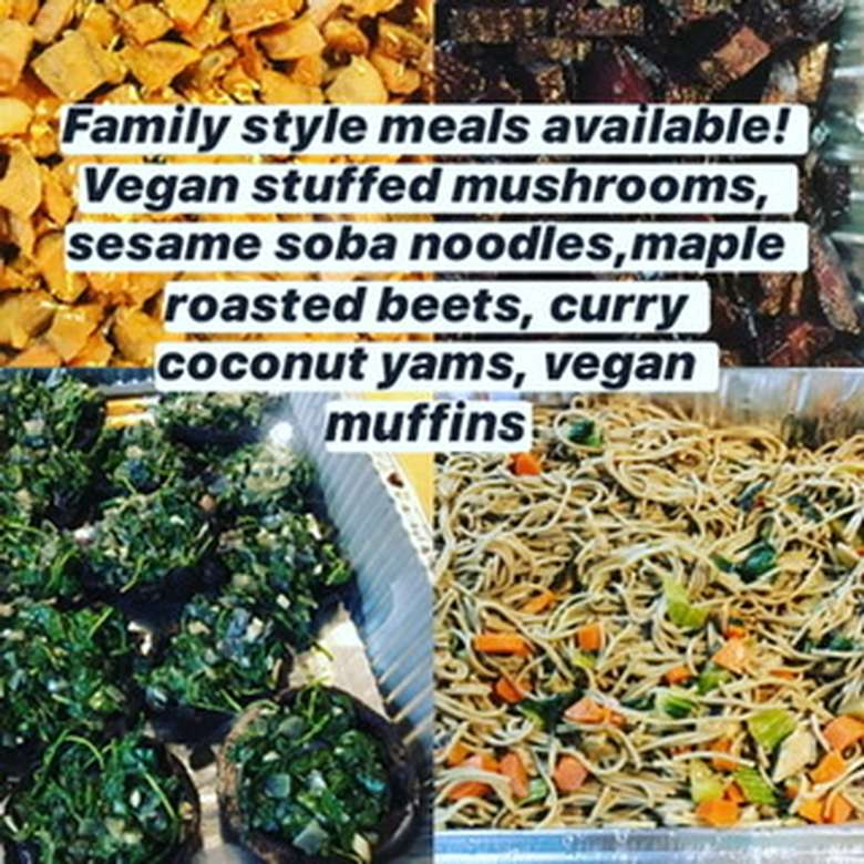 Family style vegan meals