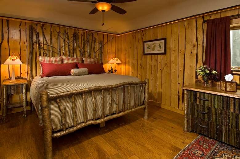 Adirondack-styled bedroom