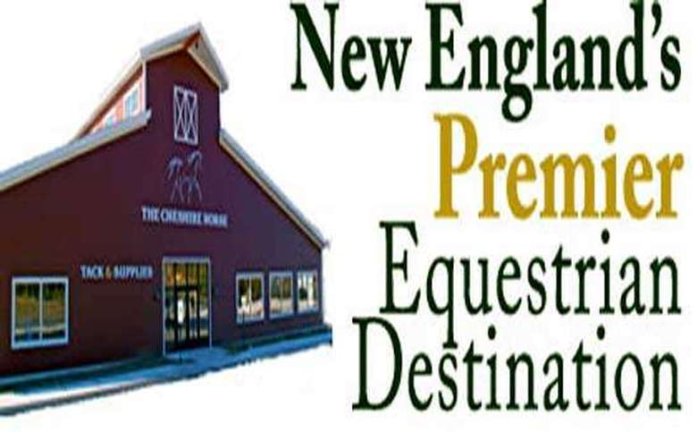exterior of the cheshire horse with text that says new england's premier equestrian destination
