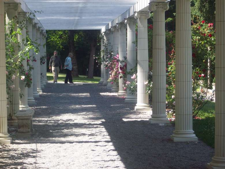 two people walking in yaddo