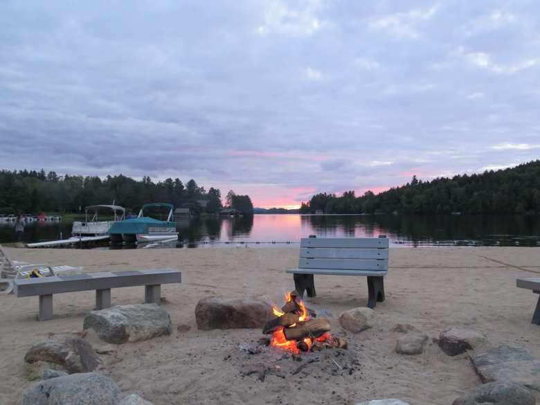 Sunset Bonfire
