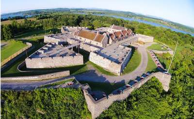 an aerial view of fort ticonderoga