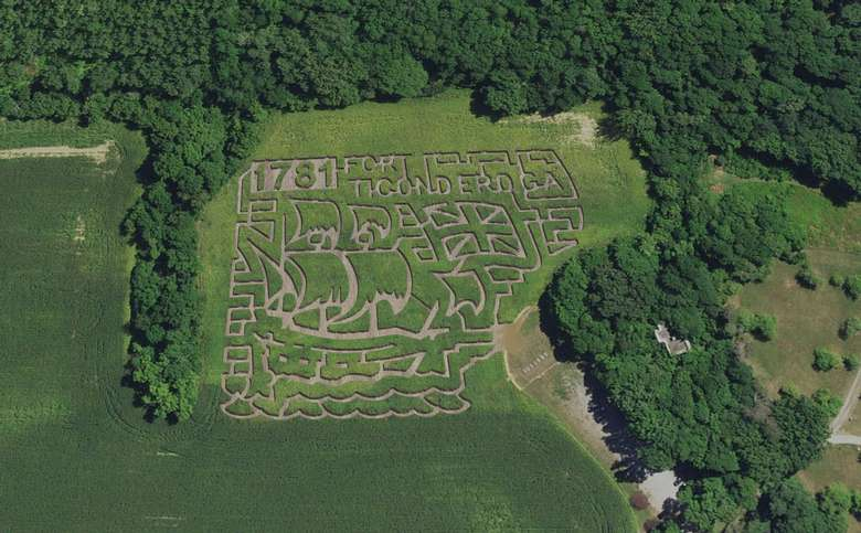 aerial view of corn maze design