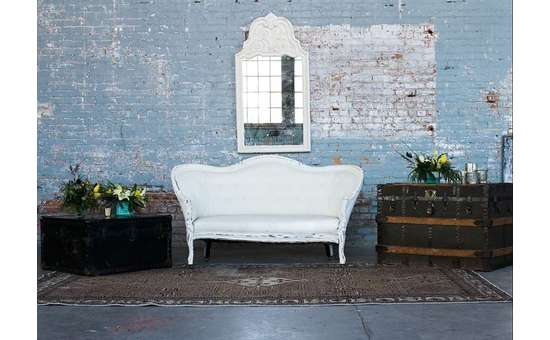 vintage seating and chest
