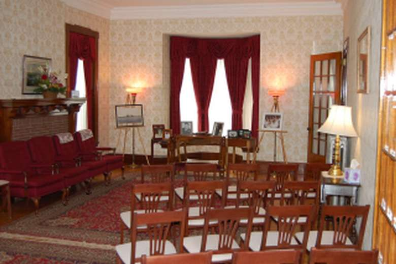 Interior seating area of the funeral home